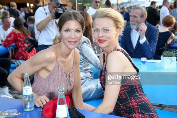 German actress Nina Gnaedig and German actress Isabell Gerschke attends the summer party of the German Producers Alliance on June 25 2019 in Berlin...