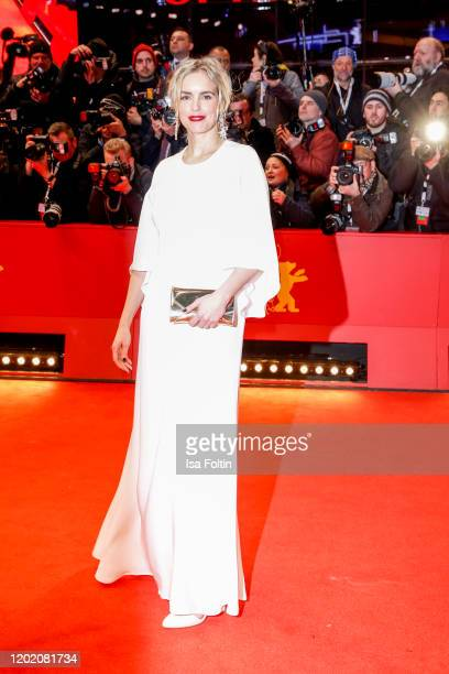 """German actress Nina Hoss arrives for the opening ceremony and """"My Salinger Year"""" premiere during the 70th Berlinale International Film Festival..."""