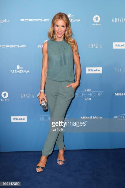 German actress NinaFriederike Gnaedig attends the Blue Hour Reception hosted by ARD during the 68th Berlinale International Film Festival Berlin on...