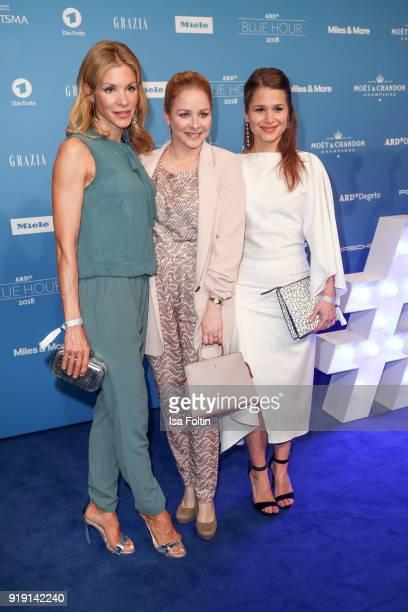 German actress NinaFriederike Gnaedig German actresss Jasmin Schwiers and GermanBrasilian actress Cristina do Rego attend the Blue Hour Reception...