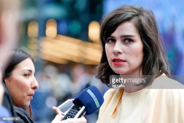 German actress Nora Tschirner during the 'Die Schluempfe Das verlorene Dorf' premiere at Sony Centre on April 2 2017 in Berlin Germany