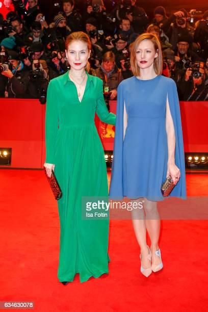 German actress Nora von Waldstaetten and german actress Lavinia Wilson attend the 'Django' premiere during the 67th Berlinale International Film...