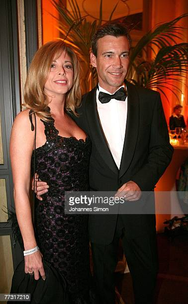 German actress Olivia Pascal and her boyfriend Peter Kanitz attend the Audi Generation Award at Hotel Bayerischer Hof on October 13, 2007 in Munich,...