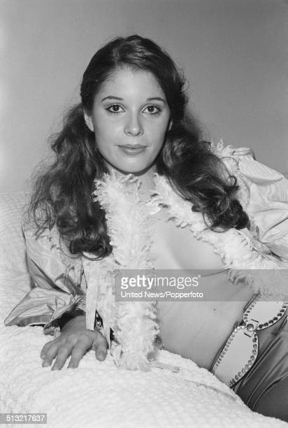 German actress Olivia Pascal posed in London on 8th December 1976