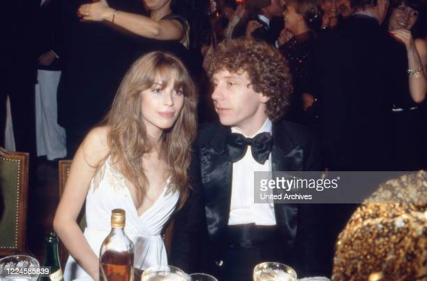 German actress Olivia Pascal with Achim Lenz Germany 1980s