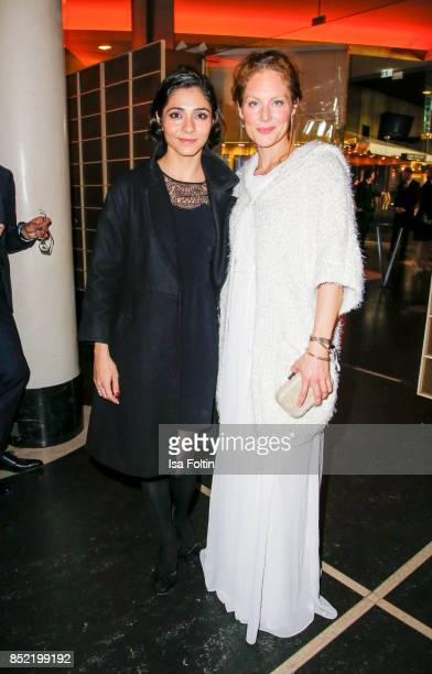 German actress Pegah Ferydoni and German actress Tessa Mittelstaedt during the 6th German Actor Award Ceremony at Zoo Palast on September 22 2017 in...