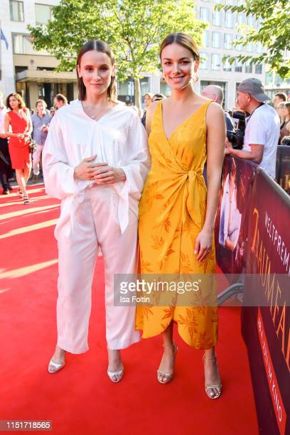 German actress Peri Baumeister and German actress Janina Uhse attend the Traumfabrik Movie Premiere on June 24 2019 in Berlin Germany