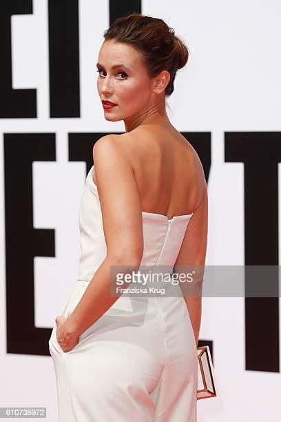 German actress Peri Baumeister attends the german premiere 'Unsere Zeit ist jetzt' at CineStar on September 27 2016 in Berlin Germany