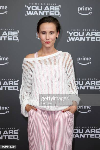 German actress Peri Baumeister attends the premiere of the second season of 'You are wanted' at Filmtheater am Friedrichshain on May 16 2018 in...