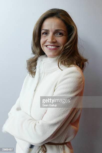 German actress Rebecca Immanuel attends a photocall at the SAT1 Lunge at the 54th annual Berlinale International Film Festival February 11 2004 in...