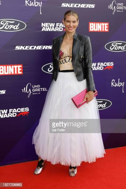German actress Rebecca Kunikowski attends the Bunte New Faces Award Style on July 5, 2021 in Frankfurt am Main, Germany.