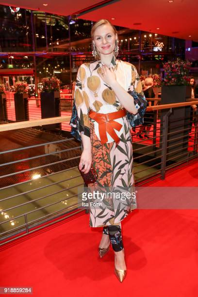 German actress Rosalie Thomass attends the opening party of the 68th Berlinale International Film Festival Berlin at Berlinale Palace on February 15...