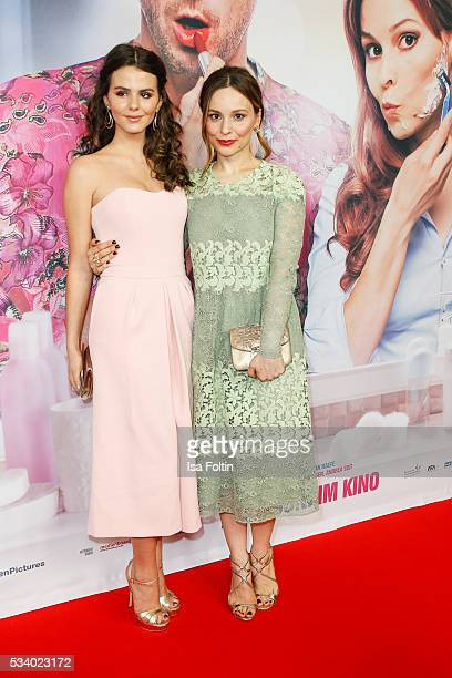 German actress Ruby O Fee and german actress Mina Tander attend the premiere of the film 'Seitenwechsel' at Zoo Palast on May 24 2016 in Berlin...