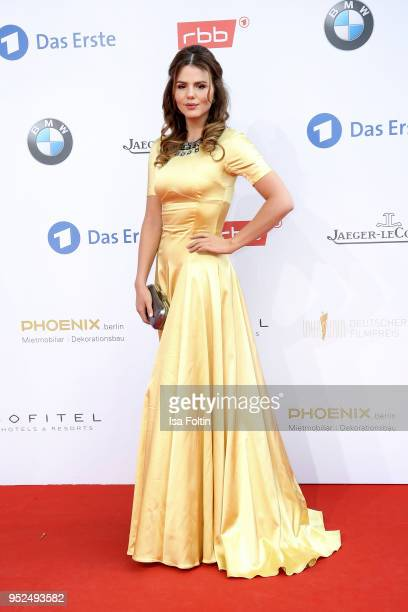 German actress Ruby O Fee attends the Lola German Film Award red carpet at Messe Berlin on April 27 2018 in Berlin Germany