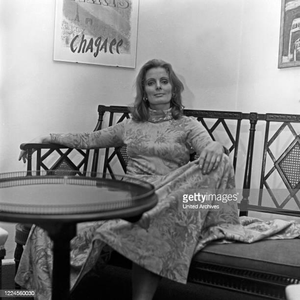 German actress Ruth Maria Kubitschek, Germany, 1960s.
