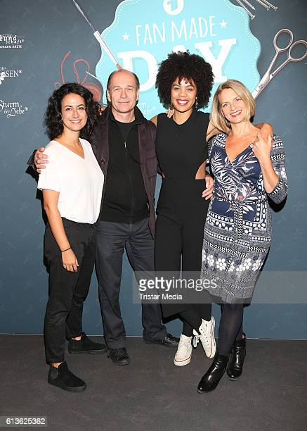 German actress Sanam Afrashteh german actor Horst Guenter Marx german actress Jane Chirwa and german actress Gunda Ebert attend the Fan Made Day by...