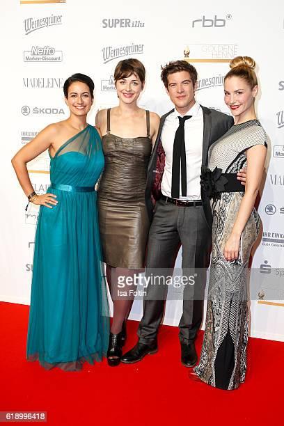 German actress Sanam Afrashteh german actress Katharina Nesytowa german actor Philipp Danne and german actress Mirka Pigulla attend the Goldene Henne...