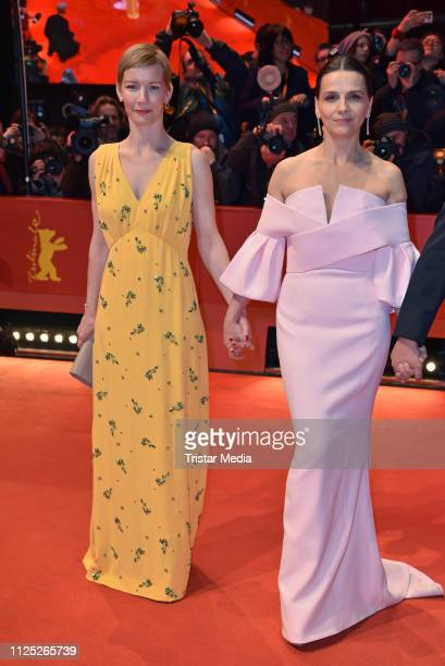 German actress Sandra Hueller and french actress Juliette Binoche arrive for the closing ceremony of the 69th Berlinale International Film Festival...