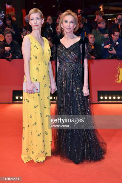 German actress Sandra Hueller and UK actress Trudie Styler arrive for the closing ceremony of the 69th Berlinale International Film Festival Berlin...