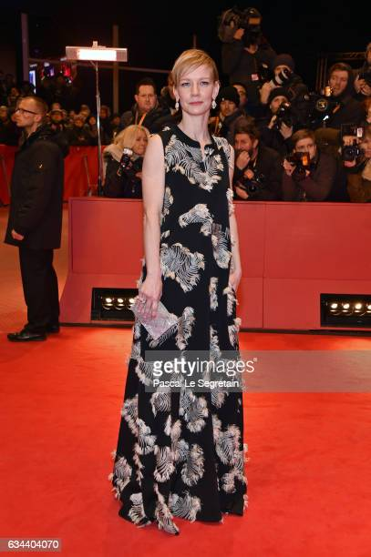 German actress Sandra Hueller attends the 'Django' premiere during the 67th Berlinale International Film Festival Berlin at Berlinale Palace on...