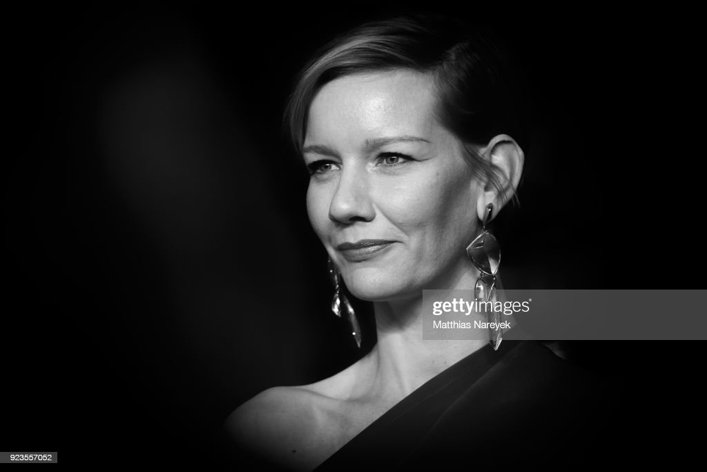 German actress Sandra Hueller poses on the red carpet before the premiere of the film 'In the aisles' (In den Gaengen) presented in competition during the 68th Berlinale International Film Festival Berlin at on February 23, 2018 in Berlin, Germany.