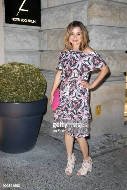German actress Sarah Alles during the Bunte New Faces Night at Grace Hotel Zoo on July 2 2018 in Berlin Germany