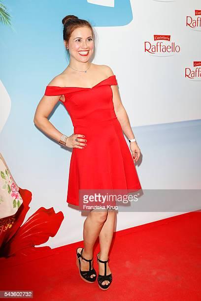 German actress Sarah Tkotsch attends the Raffaello Summer Day 2016 to celebrate the 26th anniversary of Raffaello on June 24 2016 in Berlin Germany