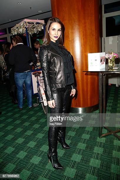 German actress Sila Sahin attends the 1st Anniversary Celebration Of Berlin Blonds on December 5 2016 in Berlin Germany