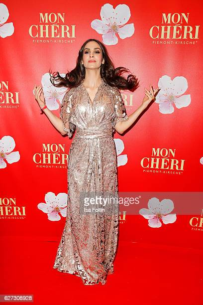 German actress Sila Sahin attends the Mon Cheri Barbara Tag at Postpalast on December 2 2016 in Munich Germany