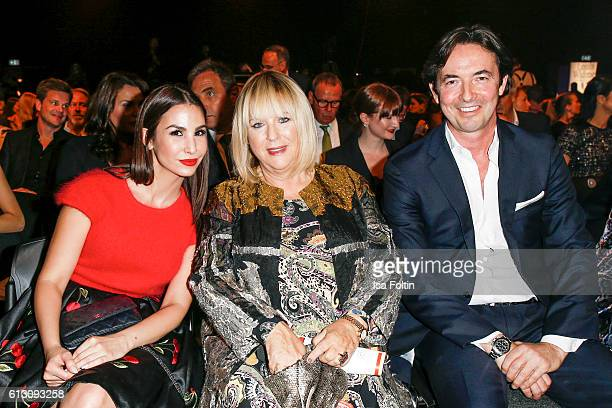 German actress Sila Sahin Patricia Riekel and Martin Bachmann attend the Tribute To Bambi at Station on October 6 2016 in Berlin Germany