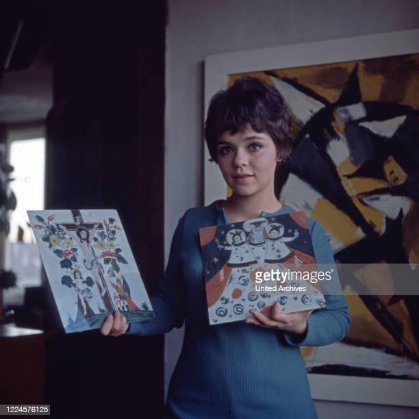 German actress Simone Rethel, Germany, 1960s.