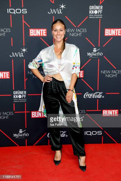 German actress Sina Tkotsch attends the Bunte New Faces Night at Father Graham on July 1, 2019 in Berlin, Germany.