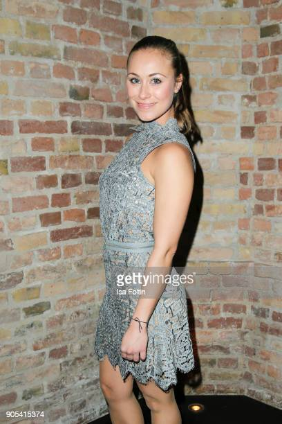 German actress Sina Tkotsch during the Bunte New Faces Night at Grace Hotel Zoo on January 15 2018 in Berlin Germany