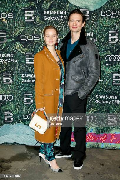 German actress Sonja Gerhardt and German actor August Wittgenstein attend the Place To B Pre-Berlinale-Dinner at Restaurant Tim Raue on February 18,...