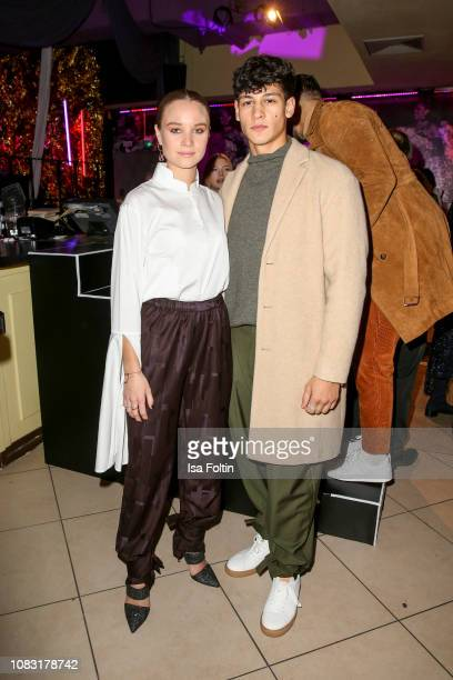German actress Sonja Gerhardt and German actor Emilio Sakraya during the William Fan Defile during 'Der Berliner Salon' Autumn/Winter 2019 at...