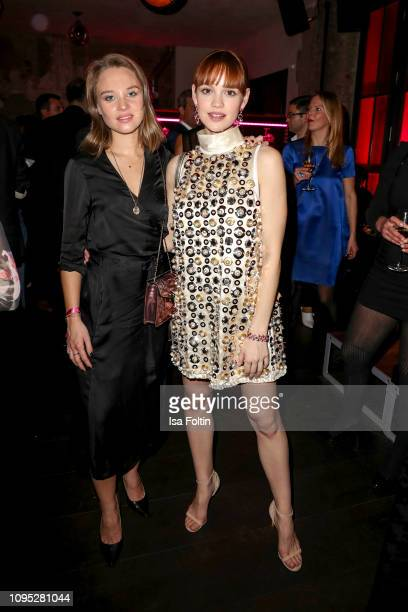 German actress Sonja Gerhardt and German actress Emilia Schuele during the Bulgari party with the motto #Starsinbulgari on February 7, 2019 in...