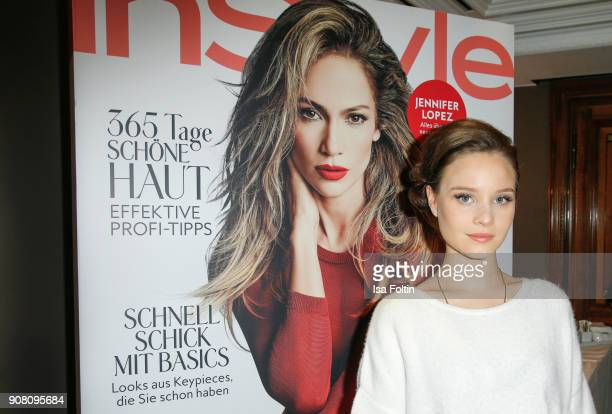 German actress Sonja Gerhardt during the Burda Style Lounge on the occasion of the German Film Ball on January 20 2018 in Munich Germany