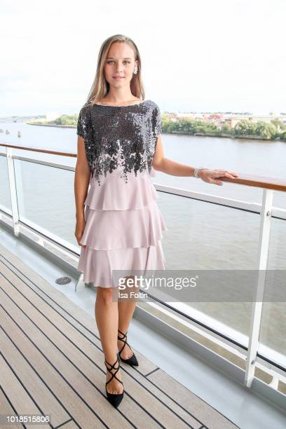 German actress Sonja Gerhardt during the FASHION2NIGHT event on board the EUROPA 2 on August 17 2018 in Hamburg Germany