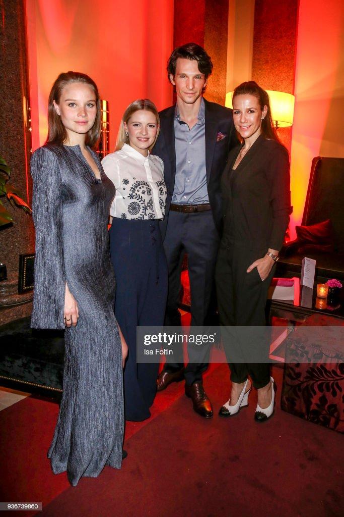 German actress Sonja Gerhardt, German actress Jennifer Ulrich, German actor Sabin Tambrea and German actress Alexandra Neldel during the Reemtsma Liberty Award 2018 on March 22, 2018 in Berlin, Germany.