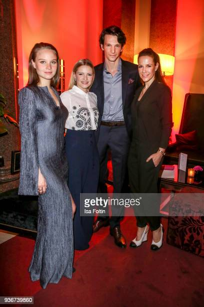 German actress Sonja Gerhardt German actress Jennifer Ulrich German actor Sabin Tambrea and German actress Alexandra Neldel during the Reemtsma...