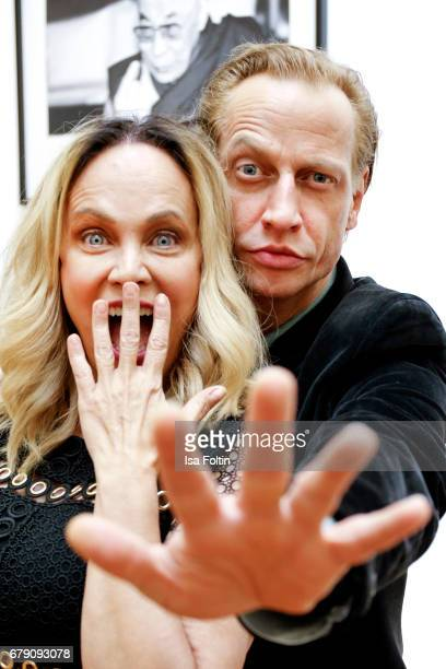 German actress Sonja Kirchberger and german actor Victor Schefe attend the 'FotoKunstBoulevard' opening at MartinGropiusBau on May 4 2017 in Berlin...