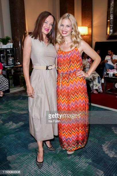 German actress Sonja Kirchberger and German actress Susan Sideropoulos during the TwoTell Ladiesdinner 2019 at Hotel De Rome on June 30, 2019 in...