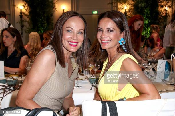 German actress Sonja Kirchberger and German model Gitta Saxx during the TwoTell Ladiesdinner 2019 at Hotel De Rome on June 30, 2019 in Berlin,...