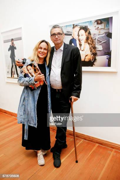 German actress Sonja Kirchberger and photographer Kevin Lynch during the 'FotoKunstBoulevard' exhhibition opening at MartinGropiusBau on May 4 2017...