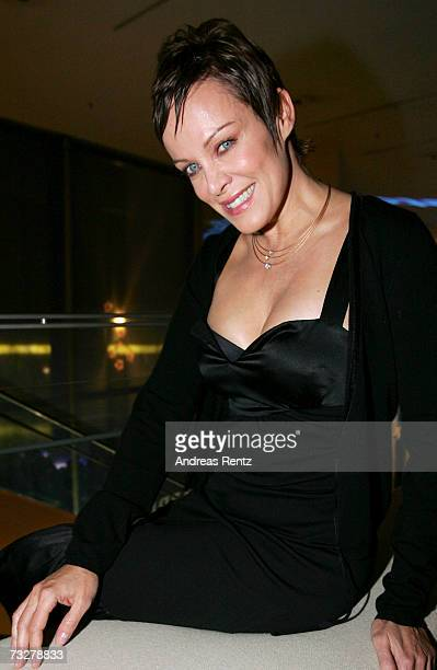 German actress Sonja Kirchberger attends the Blue Hour Party put on by ARD and Degeto during the 57th Berlin International Film Festival on February...