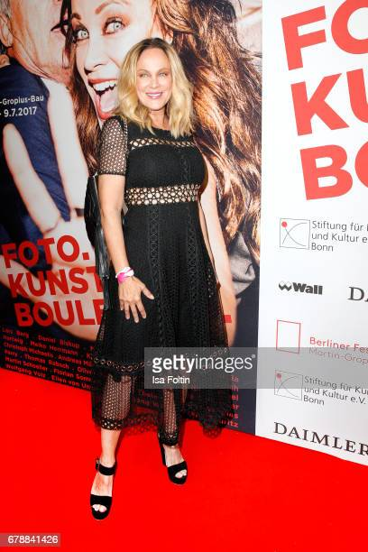 German actress Sonja Kirchberger attends the 'FotoKunstBoulevard' opening at MartinGropiusBau on May 4 2017 in Berlin Germany