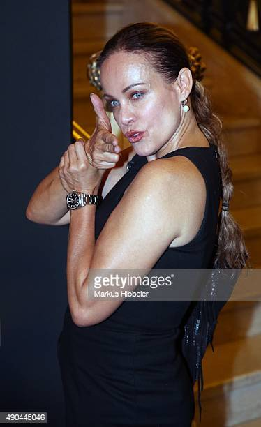 German actress Sonja Kirchberger attends the SKY 007 HD event at Hotel Atlantic on September 28 2015 in Hamburg Germany