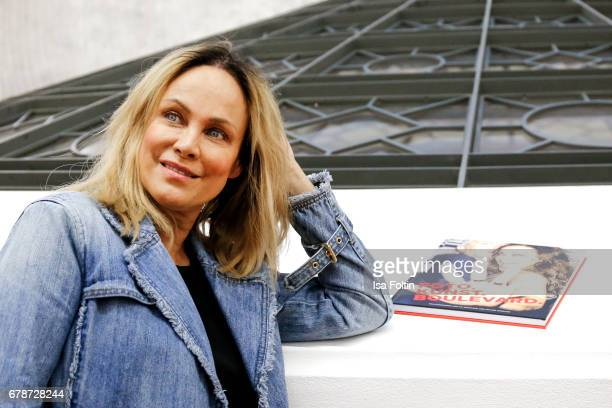 German actress Sonja Kirchberger during the 'FotoKunstBoulevard' exhhibition opening at MartinGropiusBau on May 4 2017 in Berlin Germany
