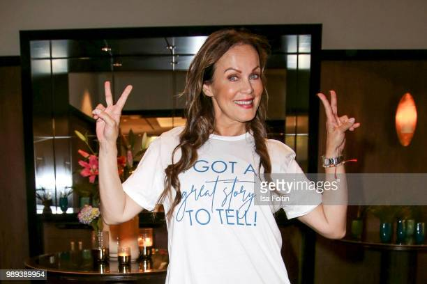 German actress Sonja Kirchberger during the Ladies Dinner at Hotel De Rome on July 1 2018 in Berlin Germany