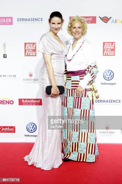 German actress Sophie Wepper and award winner Bettina Landgrafe attend the 'Goldene Bild der Frau' award at Hamburg Cruise Center on October 21 2017...
